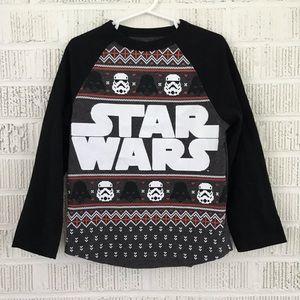 NWT Star Wars Christmas Shirt Fair Isle Boys Shirt